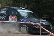 Ralio trasoje Eugenijaus Sladkevičiaus ir Andriaus Petruškevičiaus ekipažas iš Lietuvos su automobiliu Mitsubishi Lancer EVO X