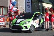 Startuoja Lauryno Diržininko ir Mindaugo Raibužio ekipažas iš Lietuvos su automobiliu Ford Fiesta