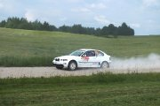 Ralio trasoje Sauliaus Trapuilos ir Mindaugo Meilūno ekipažas iš Lietuvos su automobiliu BMW M3