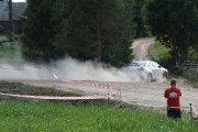 Ralio trasoje Andrei Halabarodzka ir Tanya Tsirfa ekipažas iš Baltarusijos su automobiliu Mitsubishi Lancer EVO X
