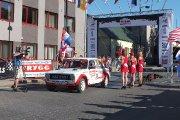 Startuoja Sorokin Alexey ir Sorokin Evgenii ekipažas iš Rusijos su automobiliu VAZ 2101