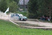 Ralio trasoje Gedimino Ramono ir Kęstučio Būziaus ekipažas iš Lietuvos su automobiliu Mitsubishi Lancer EVO X
