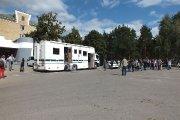 Mobilios policijos vadavietės, skirtos ekstremalių situacijų valdymui, demonstravimas