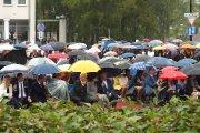 Utenos rajono savivaldybės meras Alvydas Katinas ir šventės svečiai
