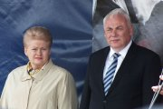 Lietuvos Respublikos Prezidentė Dalia Grybauskaitė ir vidaus reikalų ministras Dailis Barakauskas