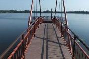 Klovinių užtvankos tiltas link krioklio