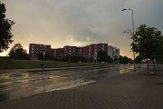 Aušros gatvė po lietaus
