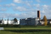 Dievo Apvaizdos bažnyčia nuo Vyžuonos parko pusės