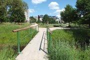Tiltelis per Krašuonos upelį Krašuonos parke