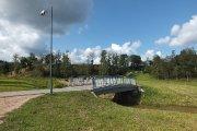 Tiltelis per Vyžuonos upelį Vyžuonos parke