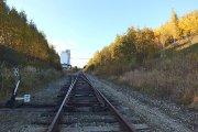 Geležinkelio bėgiai ties ''Utenos alaus'' darykla