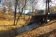 Tiltelis per Krašuonos upelį prie miesto sodo