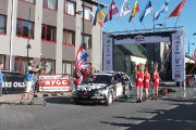 Startuoja Tõnu Sepp ir Tarvo Saar ekipažas iš Estijos su automobiliu Honda Civic Type-R