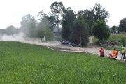 Ralio trasoje Tautvydo Narušio ir Juozo Narušio ekipažas iš Lietuvos su automobiliu Mitsubishi Lancer EVO IV