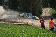 Ralio trasoje Gatis Vecvagars ir TBA ekipažas iš Latvijos su automobiliu Mitsubishi Evo IX