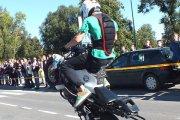 Utenos motoakrobatų pasirodymas