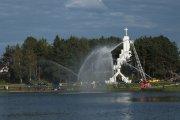 Utenos gaisrininkų parodomoji programa ''Mobilus fontanas''