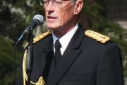 Karinių jūrų pajėgų pučiamųjų orkestro vadovas Pranciškus Memėnas