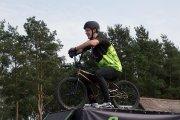 """Ekstremalus dviratininkų """"GreenTrials"""" pasirodymas"""