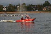 Ugniagesių gelbėjimo valtys Dauniškio ežere