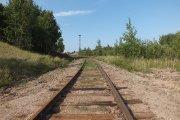 Geležinkelio bėgiai paramonės rajone