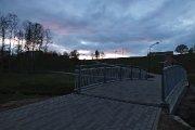 Tiltelis per Utenėlės upelį Vyžuonos parke