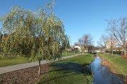 Krašuonos upelis parke prie Žalgirio gatvės