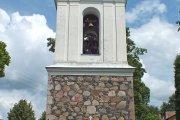 Užpalių bažnyčios varpinė pastatyta 1847 metais